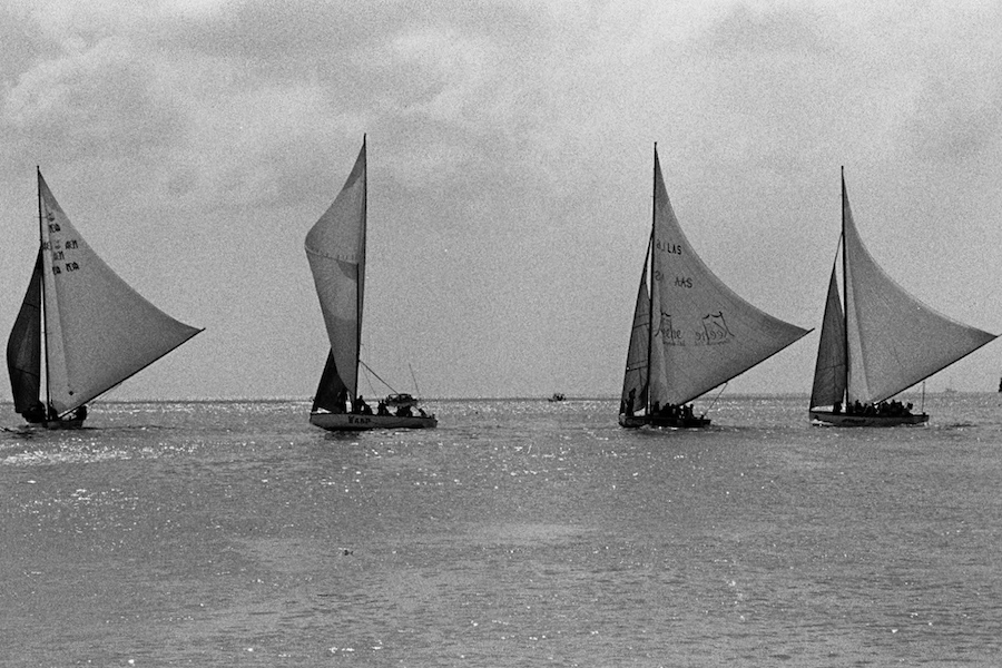 Sailing out of Road Bay, Sandy Ground, Anguilla