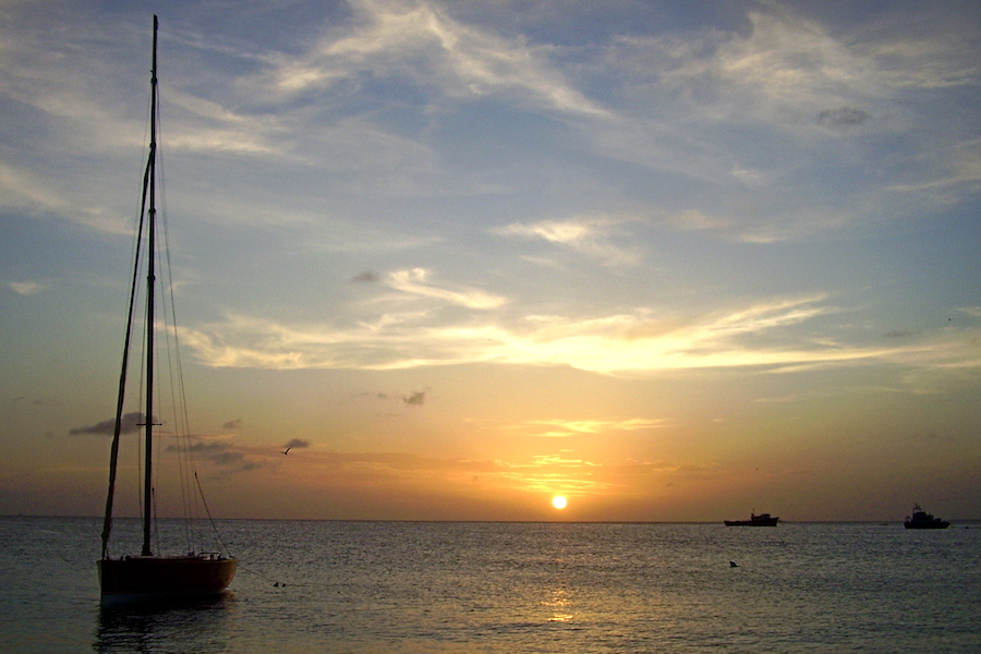 Sunset over Road Bay, Anguilla Real Estate